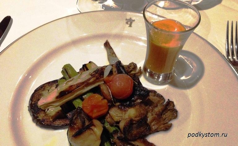 Баклажан маринованный с овощами