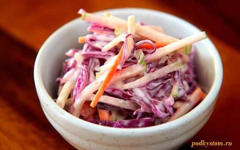 Домашний-салат-из-капусты