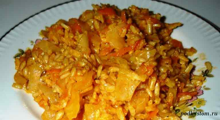 Рис-капуста-морковь